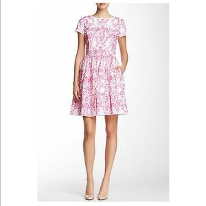*NWT* Oscar de la Renta Pink Printed Pocket Dress